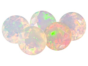Ethiopian Opal 6mm Round Set of 5 2.10ctw
