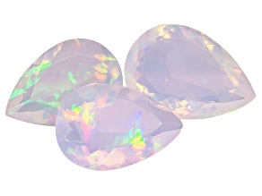 Ethiopian Opal Pear Shape Set of 3 6.75ctw