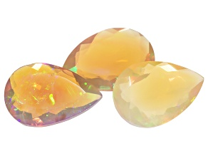 Ethiopian Opal 9x13mm Pear Shape 6.01ctw