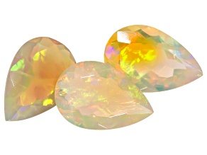 Ethiopian Opal 8x12mm Pear Shape 5.40ctw