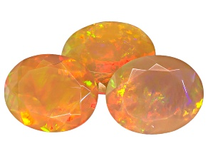 Ethiopian Opal 11x9mm Oval Set of 3 6.00ctw