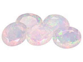Ethiopian Opal 10x8mm Oval Set of 5 5.90ctw