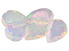 Ethiopian Opal Pear Shape Set of 5 4.00ctw