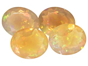 Ethiopian Opal 11x9mm Oval Set of 4 7.60ctw