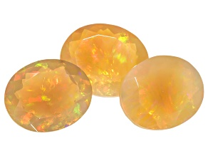 Ethiopian Opal 11x9mm Oval Set of 3 6.73ctw