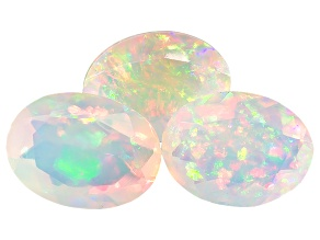 Ethiopian Opal 8x6mm Oval 1.80ctw Set Of 3