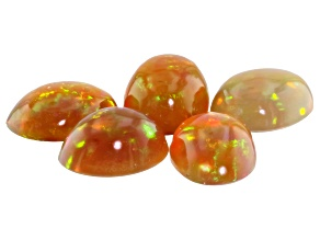 Ethiopian Opal 7x5mm Oval Cabochon Set Of 5 2.60ct