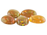 Ethiopian Opal 8x6mm Oval Cabochon Set Of 5 2.98ct
