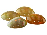 Ethiopian Opal 9x7mm Oval Cabochon Set Of 4 3.71ct