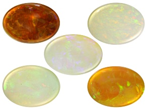 Ethiopian Opal 14x10mm Oval Set of 5 19.58ctw