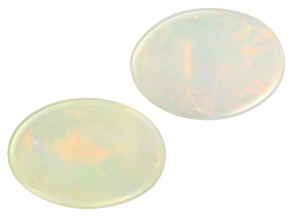 Ethiopian Opal 14x10mm Oval Set of 2 7.09ctw