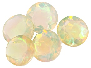 Ethiopian Opal 5mm Round Set of 5 1.75ctw