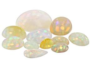Ethiopian Opal Mixed Shape Cabochon Parcel 12.94ctw