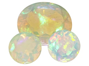 Ethiopian Opal Oval and Round Set of 3 4.34ctw