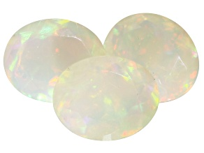 Ethiopian Opal 11x9mm Oval Set of 3 6.03ctw