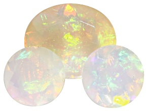 Ethiopian Opal Oval and Round Set of 3 4.95ctw