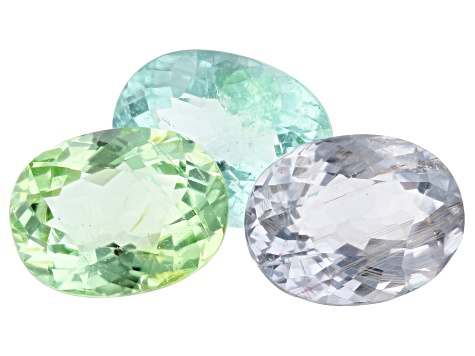 4.01ct Paraiba Tourmaline Color Set 8x6mm Set Of 3 Oval