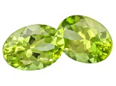 Peridot 7x5mm Oval Set 1.25ctw