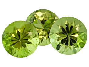 Peridot 5.5mm Round Set 1.65ctw