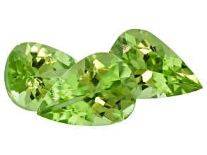 Peridot 7x5mm Pear Shape Set/3   Minimum 1.50ctw