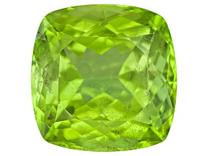 Peridot 10.50x10.43mm Square Cushion 5.97ct