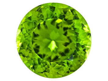 Picture of Peridot 9mm Round Emanating Star Cut 2.50ct