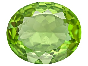Green Manchurian Peridot 12x10mm Oval 4.00ct