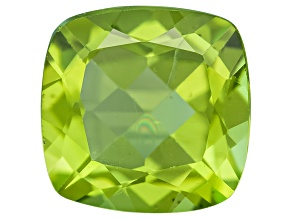 Green Manchurian Peridot 8mm Square Cushion 1.75ct