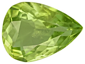 Peridot 8.5x6.5mm Pear Shape 1.23ct