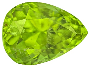 Peridot 10x7.5mm Pear Shape 3.46ct