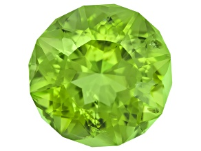 Peridot 10mm Round Emanating Star Cut 3.75ct
