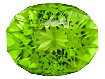 Picture of Peridot 10x8mm Oval SunGlitz Cut 3.00ct
