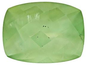Prehnite 16x12mm Rectangular Cushion Checkerboard Cut 10.00ct