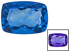 Pre-Owned Blue Fluorite Color Change 14x10mm Rectangular Cushion 8.00ct