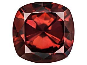 Pre-Owned Red Zircon 9mm Square Cushion 3.75ct