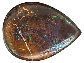 Pre-Owned Boulder Opal in Matrix 20x15mm Pear Shape Cabochon