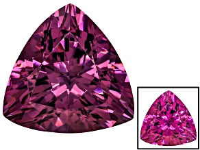 Pre-Owned Cranberry Zandrite Color Change 14x14mm Trillion 10.50ct