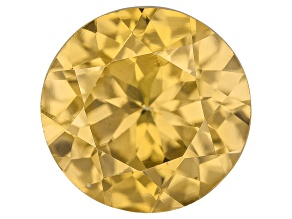 Pre-Owned Yellow Zircon Thermochromic 8mm Round Brilliant 2.25ct