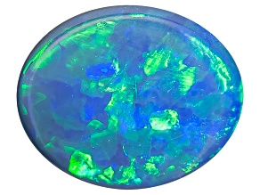 Pre-Owned Black Opal Oval Cabochon .25ct