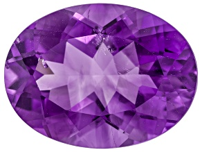 Pre-Owned Amethyst With Needles 20x15mm Oval 15.50ct