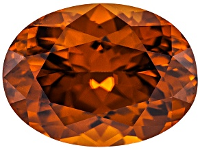 Pre-Owned Orange Zircon Oval 4.00ct