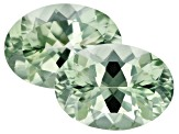 Prasiolite Matched Pair 18x13mm Oval 22.31ctw