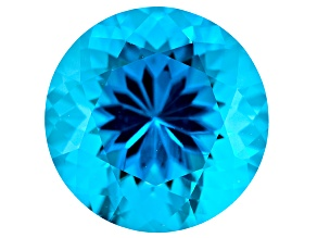 Paraiba Color Tourmaline Simulant 12mm Round 5.00ct