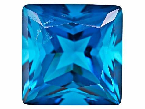 Paraiba Color Tourmaline Simulant 10mm Square Princess Cut 4.25ct