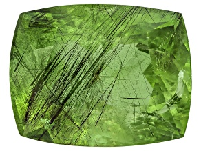Peridot Ludwigite Included Rectangular Cushion 18.00ct