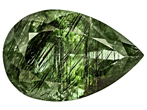 Peridot Ludwigite included 19.5x12.5mm Pear Shape 13.64ct
