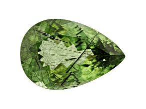 Ludwigite in Peridot 21.8x14.8mm Pear Shape 18.55ct