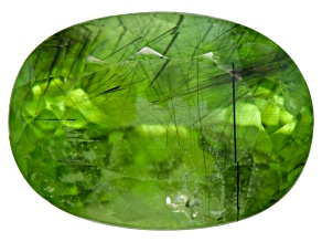Peridot Ludwigite Included Oval 17.00ct