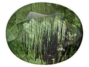 Peridot Ludwigite included Oval 9.00ct