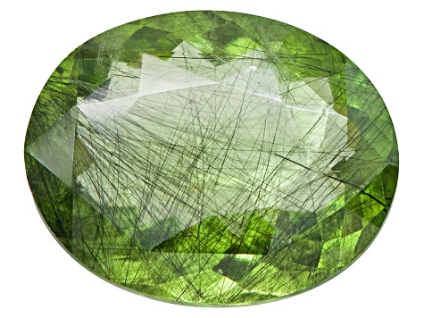 Peridot Ludwigite included Oval 10.00ct